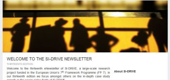 13th eNewsletter of SI-DRIVE